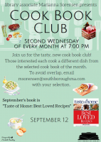 Cook Book Club flyer