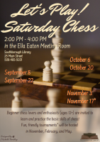Saturday Chess poster