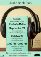 Audio Book Club fall 2018 flyer