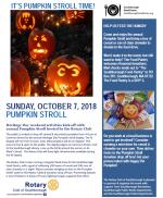 Pumpkin Stroll flyer
