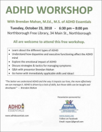 ADHD Workshop flyer