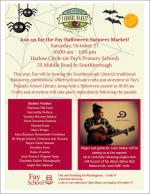 Fay School Halloween Farmers Market flyer