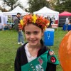 Making Flower Crowns at Gulbankian booth posted to Facebook by Gulbankian Farms Garden Center and Florist Shop