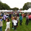 Post-parade crowd on the field from Southborough Rotary Club Facebook post