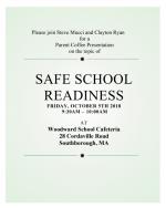 Safe School Readiness flyer
