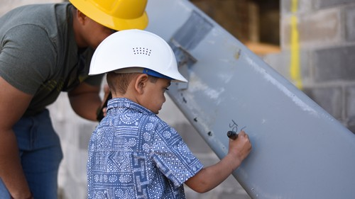 Post image for Public Safety Building: Invitations to sign the steel beam and see it installed