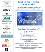Handels Messiah at Pilgrim 2018 flyer