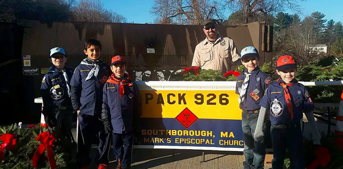Post image for Cub Scouts annual door-to-door Holiday wreath and candle sale through Nov 18