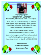 Veterans Day Luncheon flyer