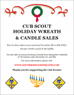 Cub Scout Holiday Sales flyer
