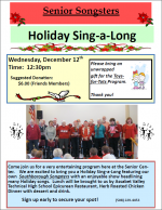 holiday sing-a-long flyer