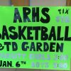 Youth players selling tickets to support ARHS varsity Basketball (photo by Beth Melo)