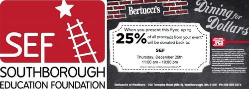 Post image for Dining for SEF Dollars – Thursday at Bertucci's