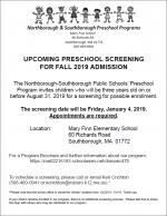 preK screening for fall19