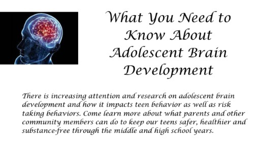 "Post image for Reminder: Parent talk tonight on risky behaviors and ""What You Need to Know about Adolescent Brain Development"""
