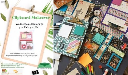 Post image for Crafternoon Clipboard Makeovers – January 30