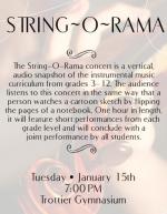 String-O-Rama concert flyer