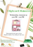 Crafternoon clipboard flyer