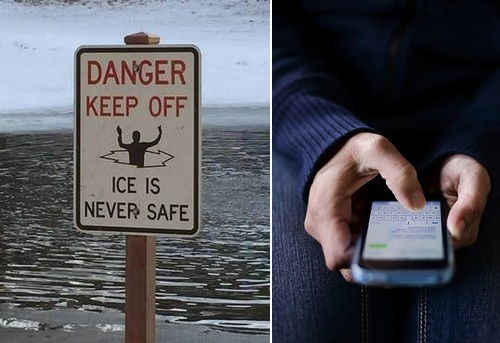 Post image for Ice Safety and Texting 911