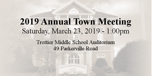 Post image for Annual Town Meeting: Save the date and view the Warrant (Updated)