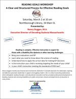 Reading Goals Workshop flyer