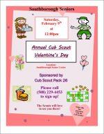 Seniors Valentines luncheon flyer