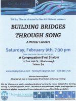 Shir Joy Building Bridgets Through Song Concert flyer