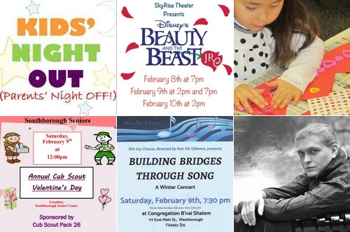 Post image for Weekend at a Glance: Kids Night Out, Neary's Beauty & the Beast Jr., Valentine's fun for seniors and kids, concerts and more