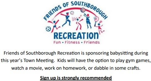 Post image for Sign up for free Babysitting during Town Meeting on Saturday, March 23