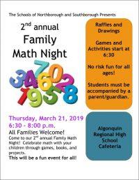 Family math night flyer