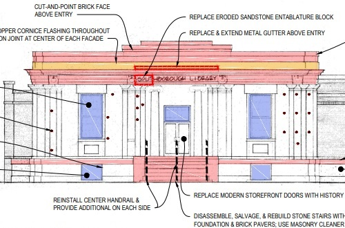 "Post image for Disagreement between BOS and CPC about ""preserving"" Southborough Library's facade"