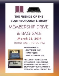 Membership Drive and Bag Sale