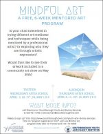 Mindful Art program flyer