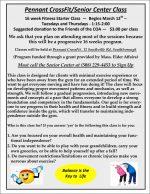 Pennant Crossfit Senior program -flyer