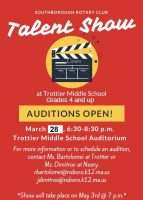 Rotary Talent Show audition flyer