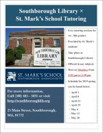 Tutoring at the Library flyer