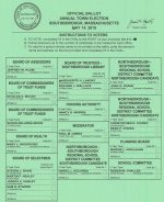 Cropped Sample ballot from 2019 town election