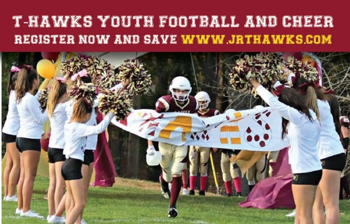 Post image for Jr. T-Hawks: Registration open for Football & Cheer, Info Night – April 29