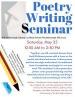 Poetry Writing Seminar flyer May 2019