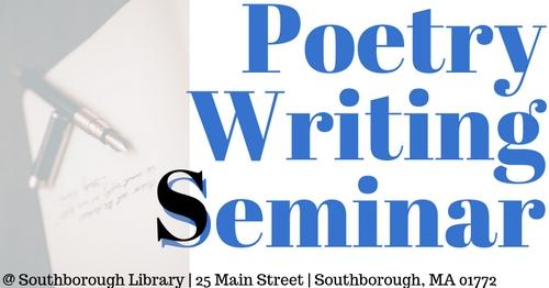Post image for Poetry Writing Seminar – Saturday