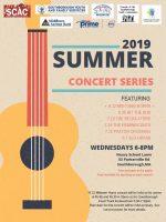 2019 Summer Concert Series flyer