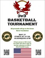 3v3 ARHS Basketball Tournament flyer