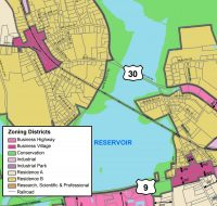 Business Village Zoning cropped from Town's zoning map