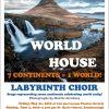 Labrynth Choir World House concert flyer