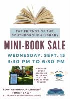 Library Mini Book Sale flyer