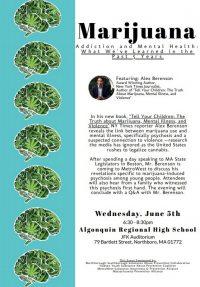 Marijuana Addiction and Mental Health flyer