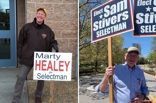 Post image for Marty Healey and Sam Stivers elected to Board of Selectmen