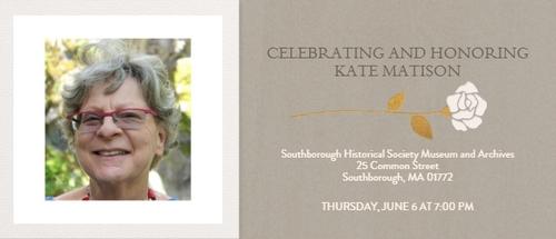 Post image for Celebrating & Honoring Kate Matison – June 6th