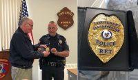 lt sean james retirement and badge