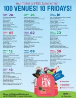 2019 Free Fun Fridays schedule